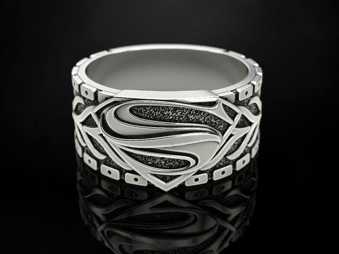 the ring of superman 2 3d model stl 3dm 1