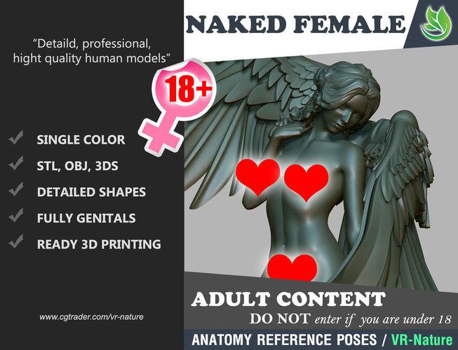 naked angel standing 1803052 3d model obj mtl 3ds stl 1