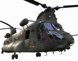 Chinook CH-47 3D model rigged