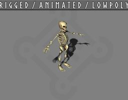 Skeleton animated 3D asset