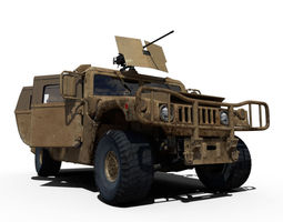 Hummer 3D model rigged