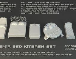 3D SFDEMIR Bed Kitbash Set