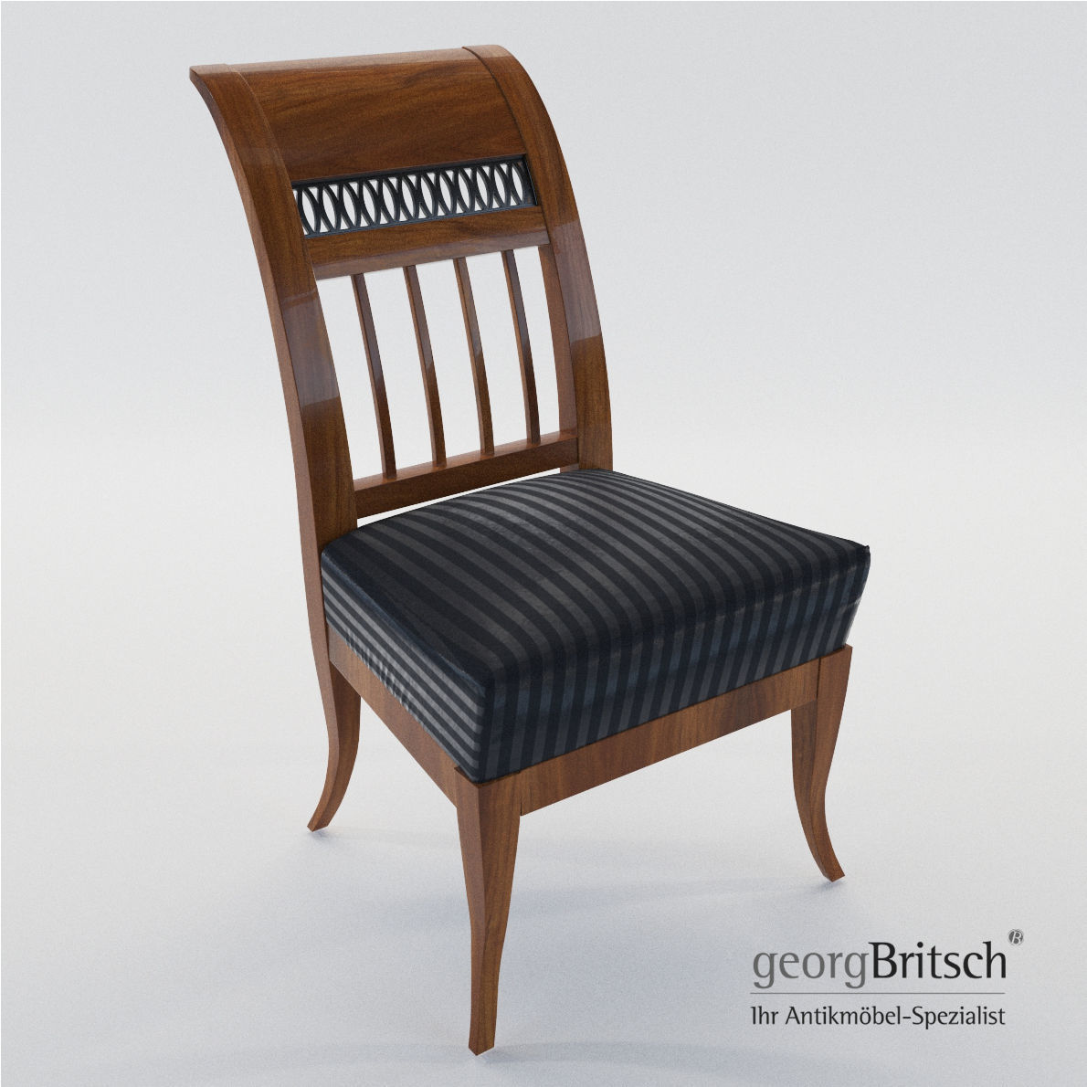 Biedermeier Chair   Munich   Germany 1805   Georg Britsch 3d Model Max Obj  Mtl Fbx ...
