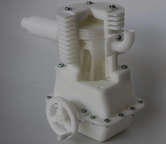 single cylinder engine 3d model stl 1