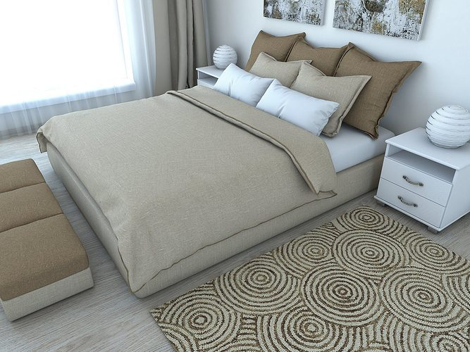 nice bedroom 3d model obj fbx hrc xsi dae skp wrl wrz 1
