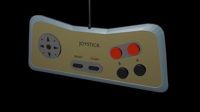 Low poly joystick 5