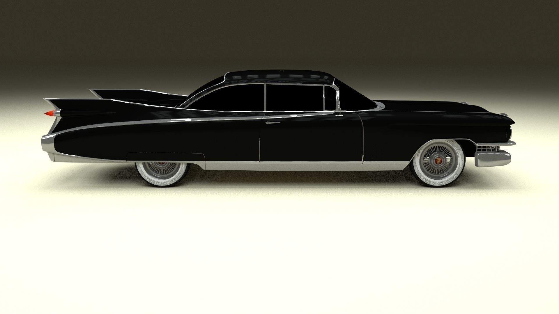3d Model 1959 Cadillac Eldorado 62 Series Coupe Vr Ar