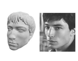 Ezra Miller head sculpt 3D print model