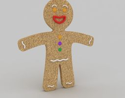 3D model holiday Gingerbread man