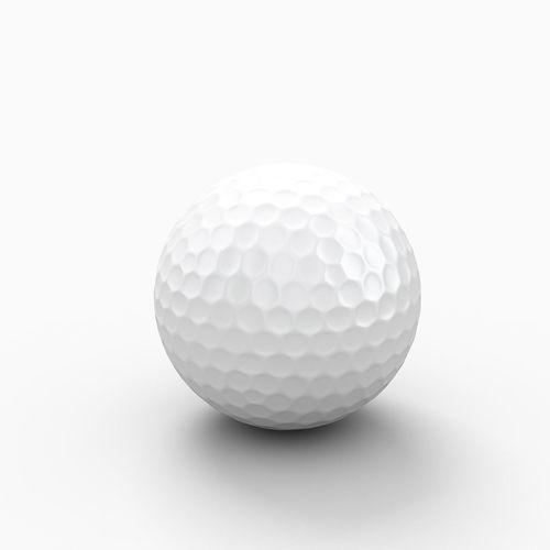 golf ball 3d model max obj mtl 3ds fbx 1
