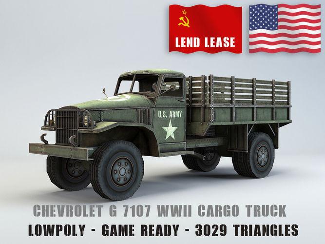 Chevrolet Truck Models >> 3d Model Low Poly Chevrolet G7107 Truck Cgtrader