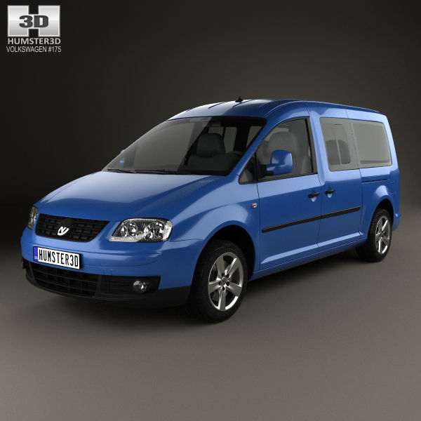 Super Volkswagen Caddy Maxi 2004 3D | CGTrader HW-02