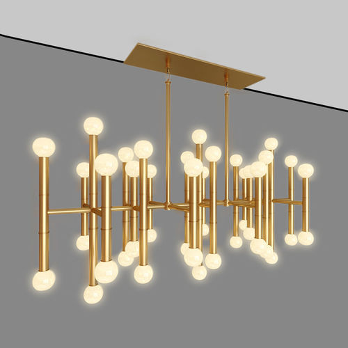 Meurice Rectangular Chandelier Jonathan Adler Designed By Jonath Model Max Obj Mtl 1