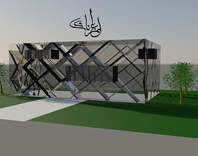 The X Glazed Pavilion 3D model