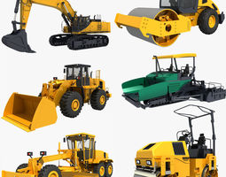 3D model Collection Construction Vehicles 03