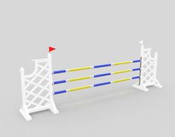 race 3D Horse jump obstacle