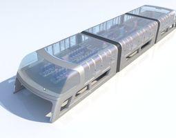 Train Bus - Concept of future transport system 3D model