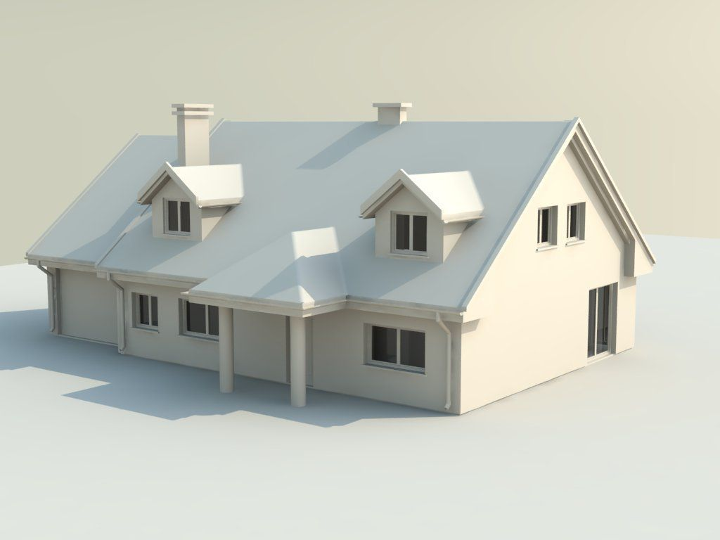 House 3d model 3d printable stl for The model house