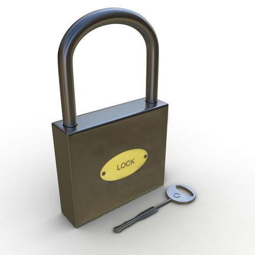 3d lock 3d model max obj mtl 3ds fbx 1