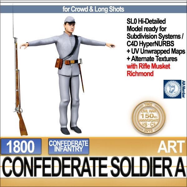 Civil War Confederate Soldier A Infantry
