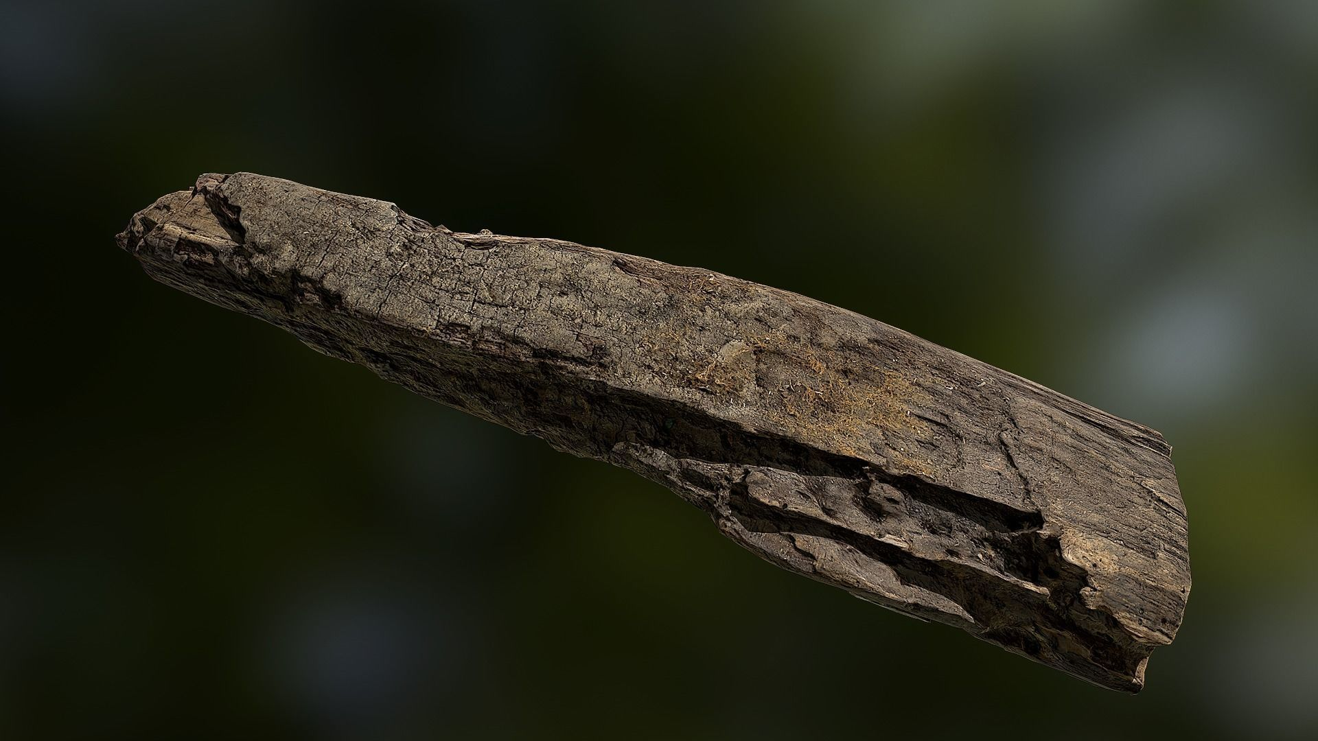 Old rotten wood low poly 3D model