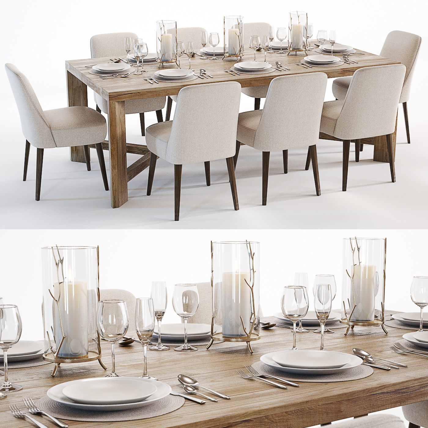 Curations Limited Gernoble and Torino table set
