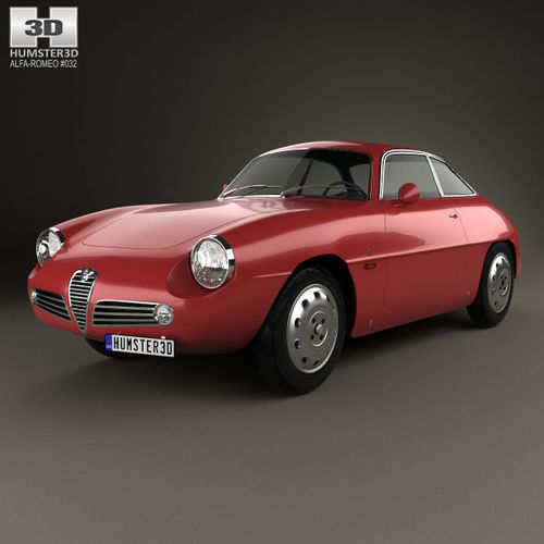 alfa romeo giulietta 1960 mk1 3d model   cgtrader