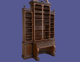 3D asset Antique Victorian Bookcase