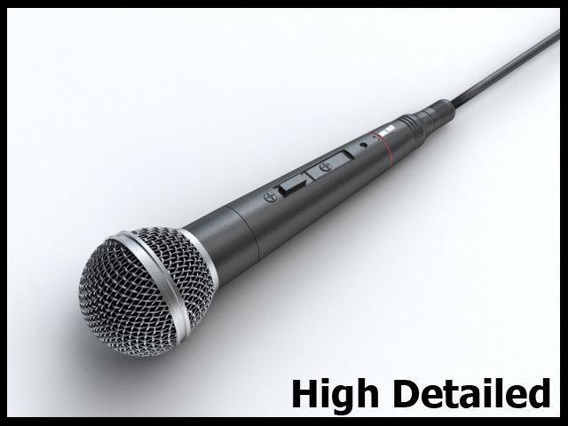 microphone 3d model max obj mtl 3ds fbx 1