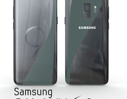 3D Samsung Galaxy S9 Midnight Black