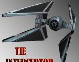 Tie Interceptor 3D model