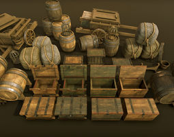 Medieval props of high quality 3D asset