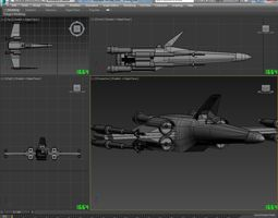 X-Wing 3D model realtime