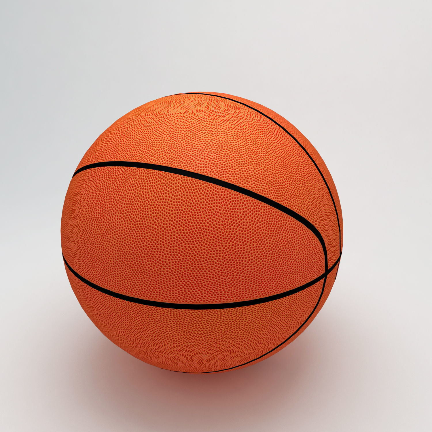 Basket ball sports low and high 3d model