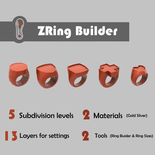 zbrush ring builder 3d model ztl 1