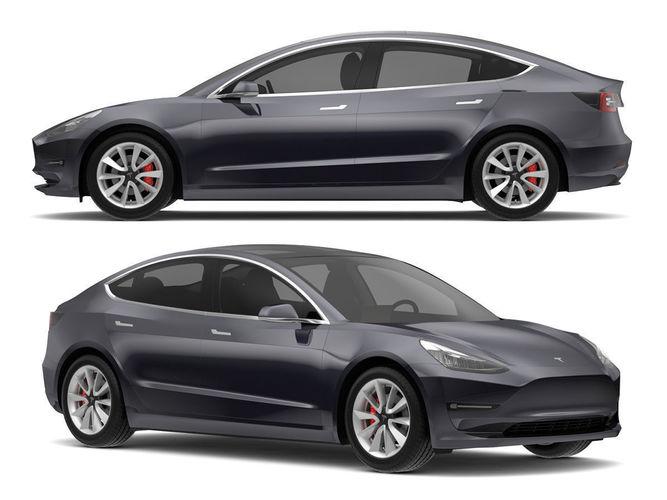 2018 Tesla Model 3 Midnight Silver Metallic | CGTrader