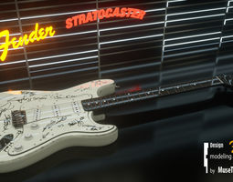 3D Guitar Fender Stratocaster
