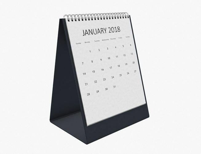 desk calendar 3d model obj mtl 1