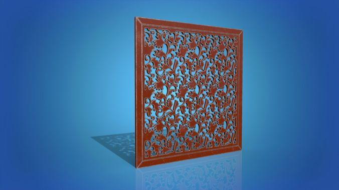 decorative panel 3d model max obj mtl 3ds fbx 1
