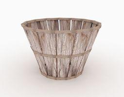 Old Wood Basket 3D