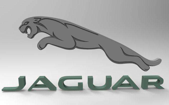 jaguar logo 3d asset quality cgtrader