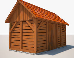 Barn cartoon 3D
