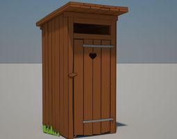 Cartoon Latrine 3D model