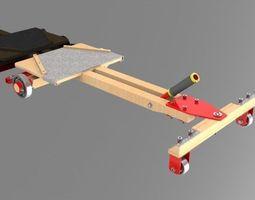 3d printable model carrinho de rolamento - cart rolling