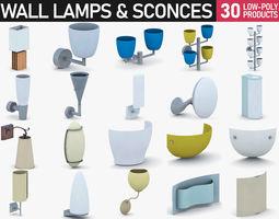 3D asset Interior Light Vol 6 - Wall Lamps