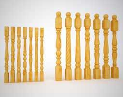 Collection Posts and Balusters 3D