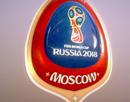 3D Moscow Host City World Cup Russia 2018 Symbol