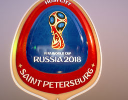 Saint-Petersburg Host City Russia 2018 Symbol 3D model