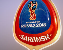 3D model Saransk Host City World Cup Russia 2018 Symbol