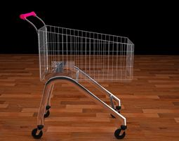 rigged Trolley 3ds fbx obj